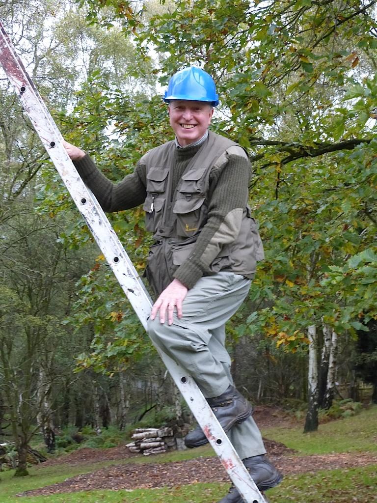 Rob, chief ladder-climber!