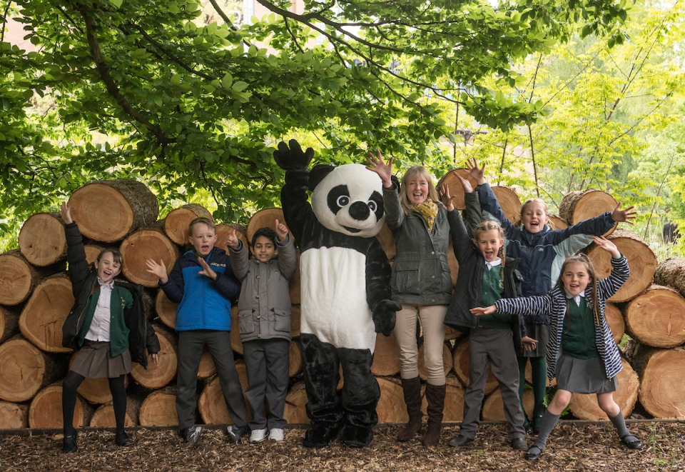 Kate MacRae with the WWF Green Ambassadors from Wicor