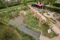 official opening of the WWF-UK garden at the living Planet Centre, Woking, UK 3rd, May 2017.
